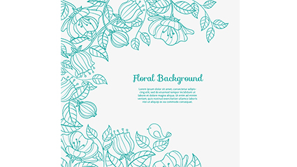 Gr��n lackiert floral background Vektor-