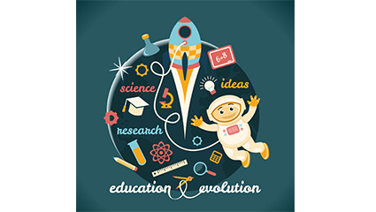 Creative Education Illustrator Vektor Material