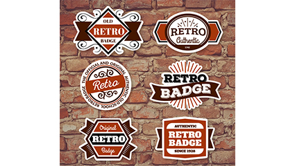 6 Retro-Mode-Label-Design-Vektor