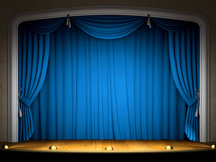 Animated stage curtain - imikimi.com