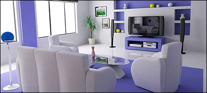 Beautiful home interior Bildmaterial-17