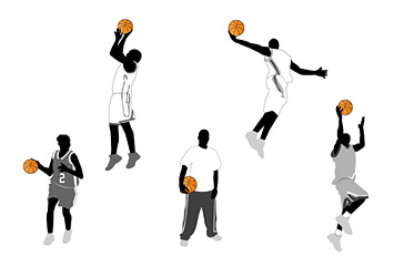 Basketball Action-Figuren und Vector