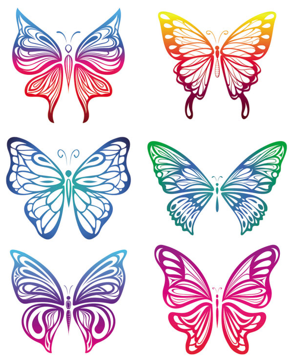 Schmetterling Scherenschnitt Vektor Free Download Vector