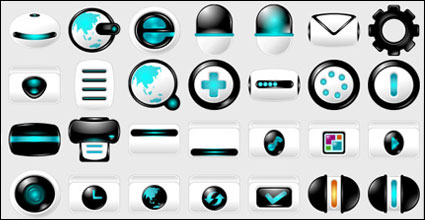 Blue High-Tech-Computer Material PNG Icon
