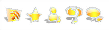 Crystal gelbe Cartoon-Symbol png